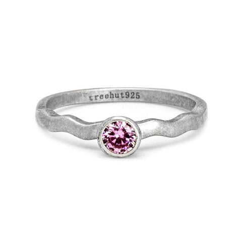 October Tourmaline Birthstone Ring