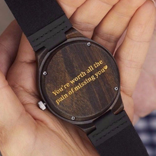 Wooden Watch // Theo Red