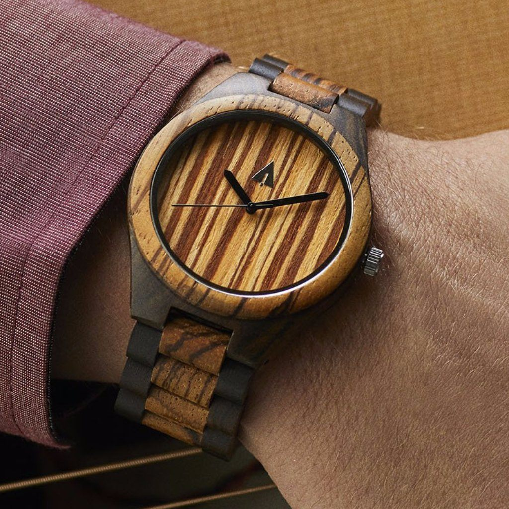 quartz truwood wooden for black green wood leaf watch with true mahogany watches men products