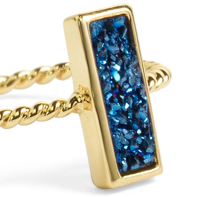 Tall Blue Stacking Ring