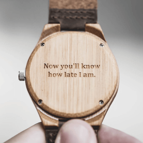 Tree Hut Zebra Wood Watch