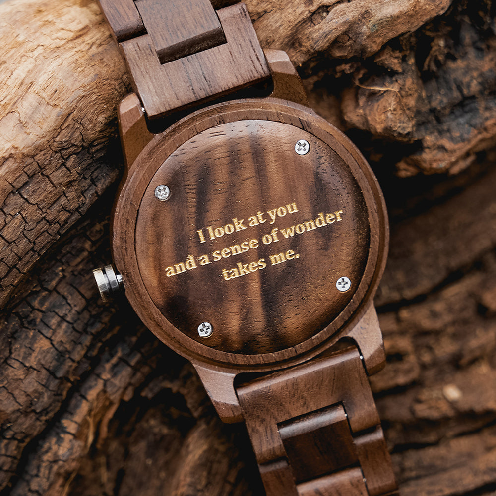 treehut Odyssey Ice Wood Walnut Copper men's watch