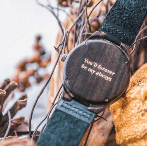 Wooden Watch // Theo Gold