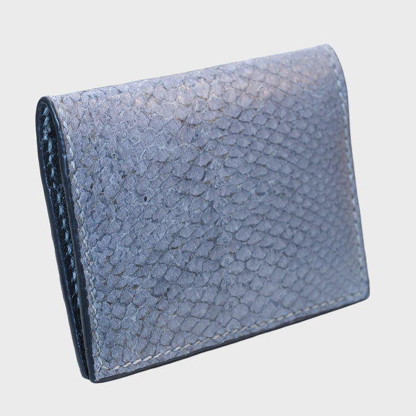 Gray salmon bifold fish leather card wallet