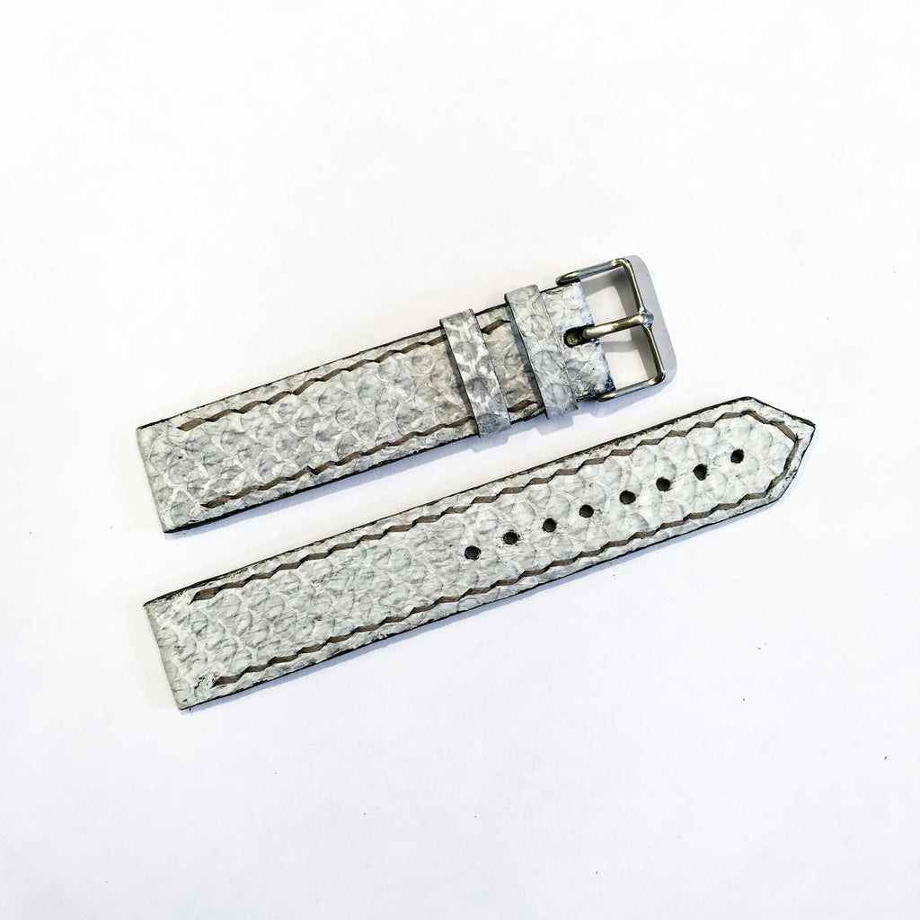 Watch strap - Salmon fishleather light