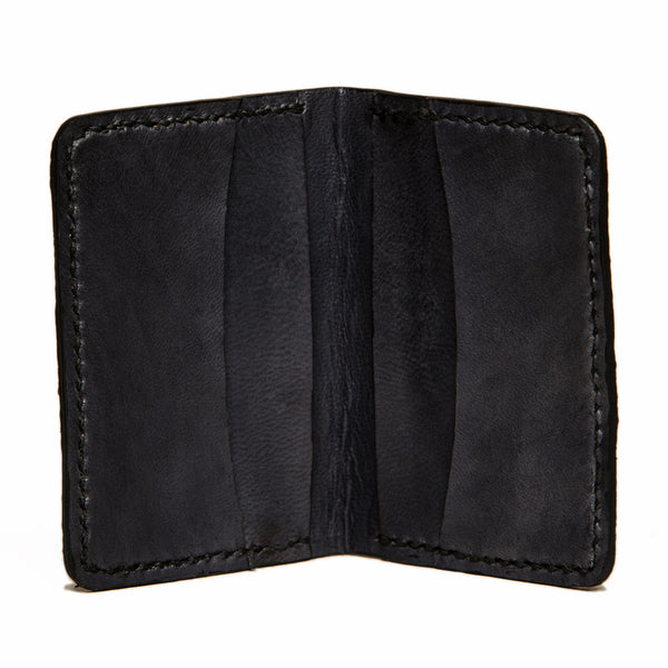 Slim Jim cod fishleather card wallet with black goat interior, Fishleather wallet, Good Old Company - Hraun- Art and design