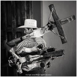 Heavy religious burden in San christobal de las Casas in Mexico, Photography, Kristjan Logason - Hraun- Art and design