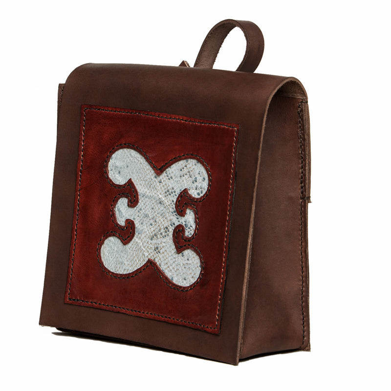 Bergen city bag with cod fishleather decoration