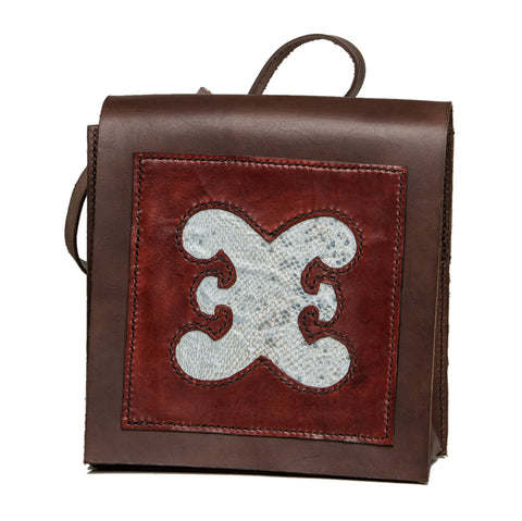 !!!Sold!!! Bergen city bag with cod fishleather decoration