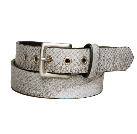 Salmon fish leather belt 35 mm