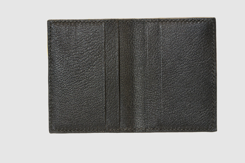 Natural salmon bifold fish leather card wallet