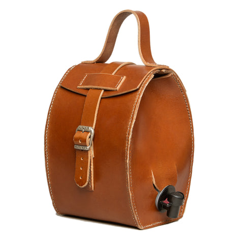 Sold - Mjolka - Leather carrier for fluid bags