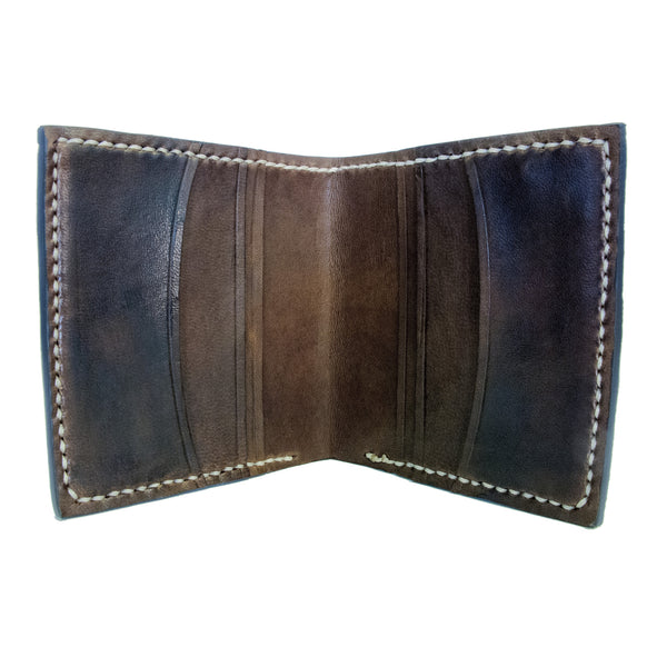 Hand stitched Cod Fish leather wallet  with brown interior, Fishleather wallet, Good Old Company - Hraun- Art and design