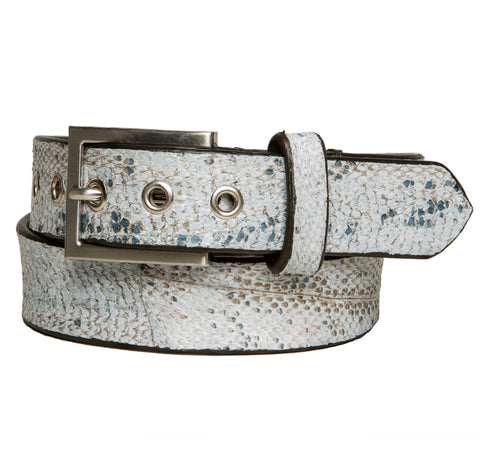 Cod fish leather belt 35 mm