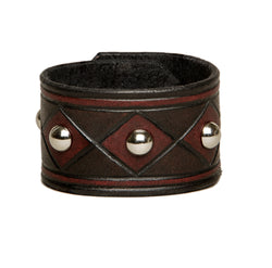 The Joker carved and studded leather cuff