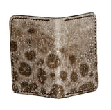Wolffish bifold card wallet with brown goat skin interior, Fishleather wallet, Good Old Company - Hraun- Art and design