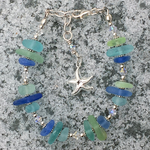 Shades of the Sea - Sea Glass Bracelet