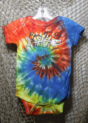 Born To Be Wild 18 month Infant Tie-Dye Rainbow Onesie