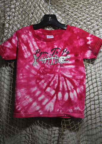 Born To Be Wild Size 3 Toddler Tie-Dye Pink T-shirt