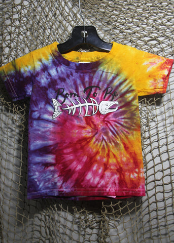 Born To Be Wild Size 2 Toddler Tie-Dye Pink, Orange & Purple T-shirt