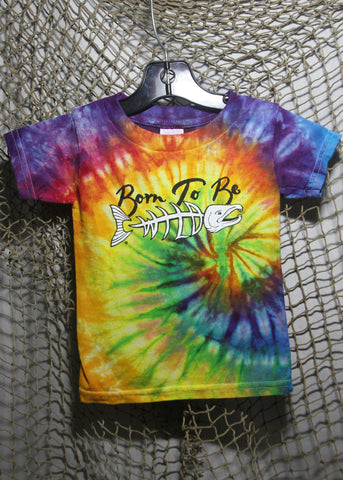 Born To Be Wild Size 2 Toddler Tie-Dye Rainbow T-shirt