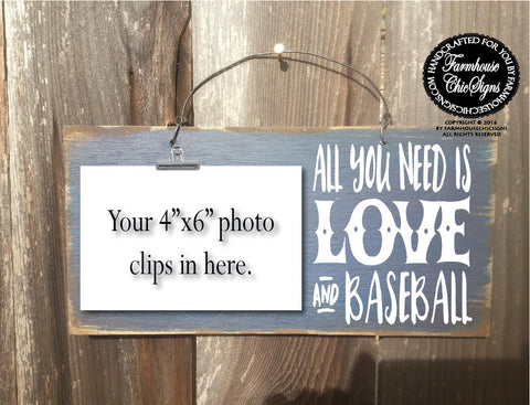 All You Need Is Love And Baseball Team Photo Holder