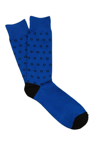 Blue & Black Dot Socks