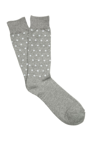 Grey & White Small Spot Socks