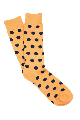 Yellow & Blue Spot Socks