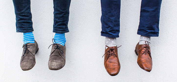 striped socks and spot socks