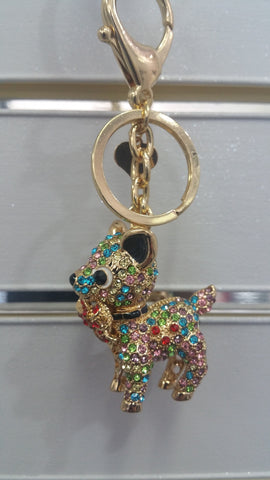 Glitzy Gold Finish Chihuahua Bag Charm