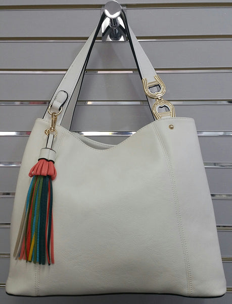 Cool Designer Inspired Handbag In White