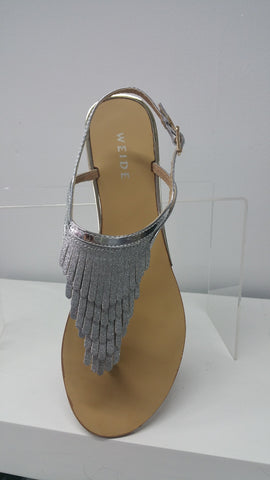 Chic sandals In Silver With Subtle Sparkle