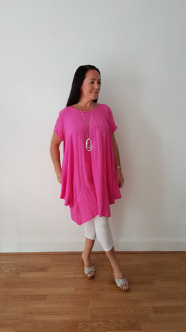 Oversized Striking Hot Pink Tunic