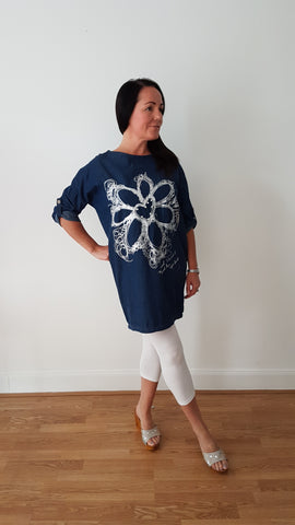 Cool Dark Denim Tunic