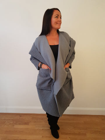 Chic and Quirky Grey Coat