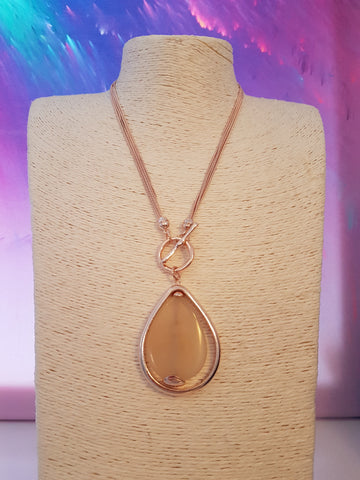 Abstract Rose Gold And Classic Stone Necklace