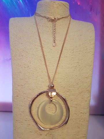 Abstact Rose Gold Circular Necklace