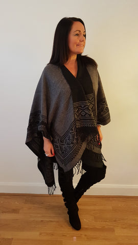 Cool Wrap With Fringe Detail