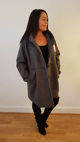 Chic and Cool Grey Coat