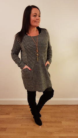 Super Cute Tunic/Dress With Necklace In Black