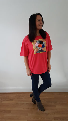 Lux T-shirt In Coral