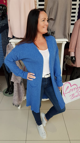 Cornflower Blue Cardigan With Star Detail