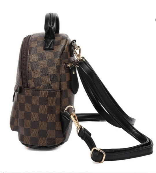 Gucci Inspired Rucksack In Browm