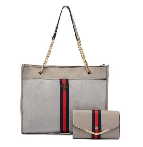 Nude Gucci Inspired Bag And Matcbing Purse