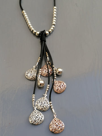 Stunning Rose Gold & Silver Necklace