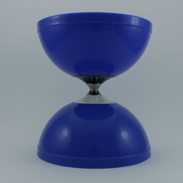 Blue diabolo with fibreglass hand sticks and fine string