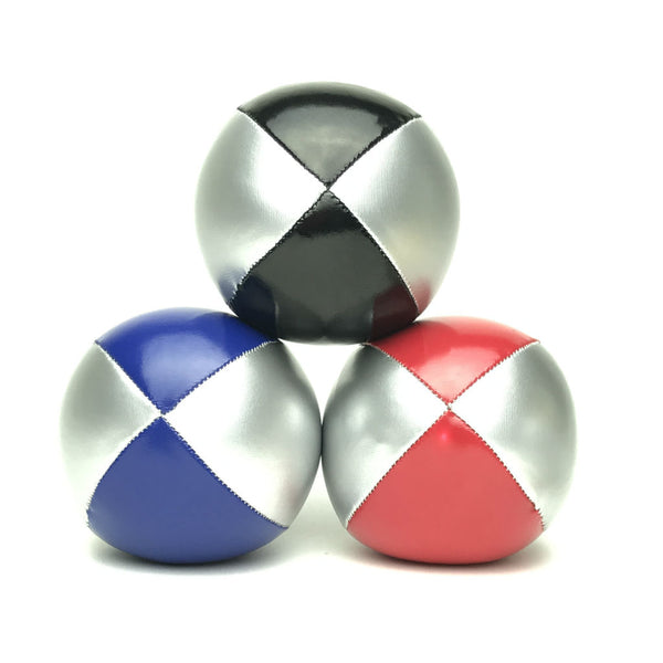 Juggling Balls Smart Silvertone - Blue-Red-Black - Balls for your mind