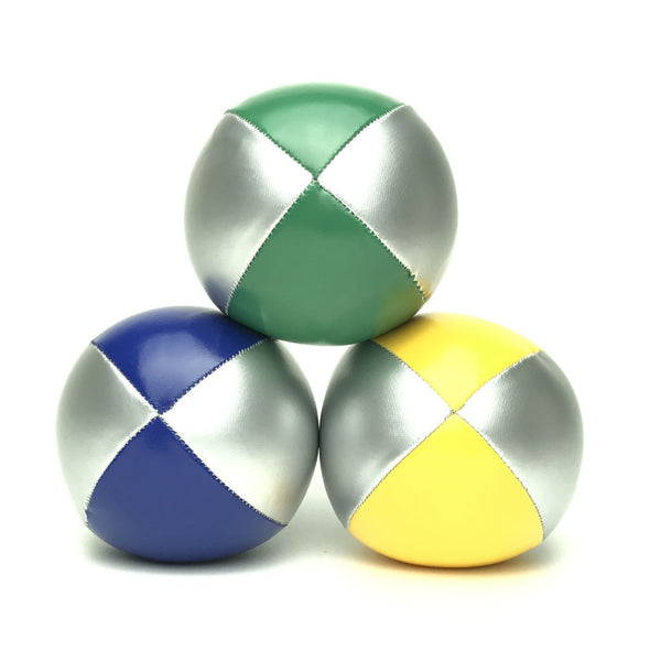 Juggling Balls Smart Silvertone - Yellow-Blue-Green - Balls for your mind
