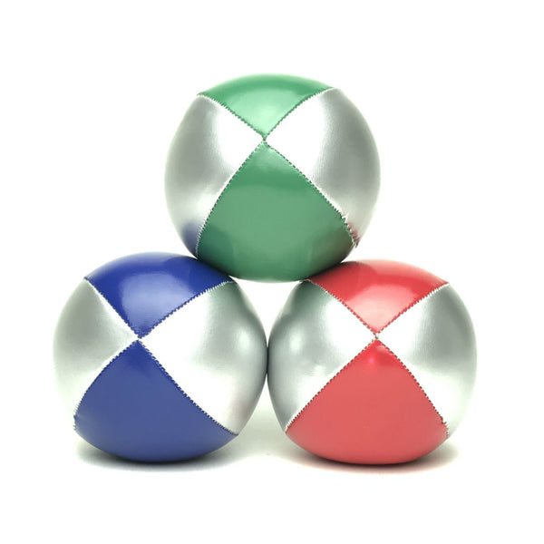 Juggling Balls Smart Silvertone - Red-Blue-Green - Balls for your mind
